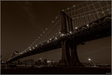Manhatten Bridge west side close paper